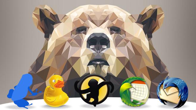 Tier-Programme: Die 55 wildesten Programme im Web ©sergiumiro - Fotolia.com, Vuze, DuckDuckGo, MediaMonkey, Mozilla