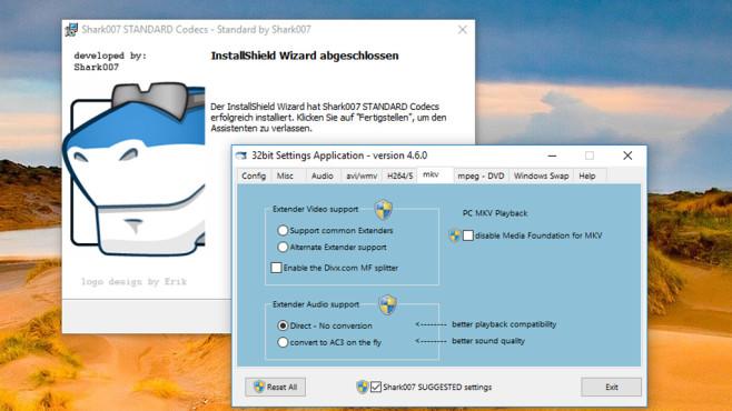 Hai: Standard Codecs for Windows 7/8/10 ©COMPUTER BILD