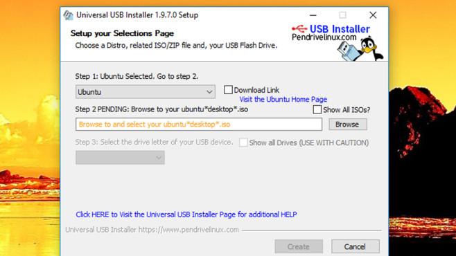 Pinguin: Universal USB Installer ©COMPUTER BILD