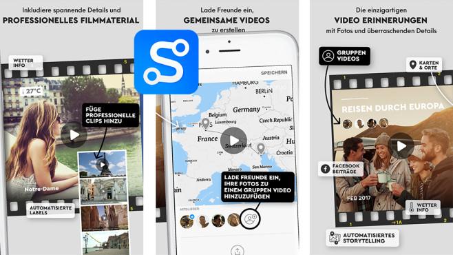 Storyo 2.0 Diashow aus Bilder, Karten und Musik ©Storymatik Software, Unipessoal, Lda