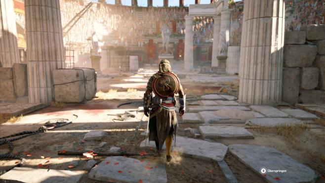 Assassin's Creed – Origins: Ein wilder Ritt! In den Nebenaktivitäten treten Sie in der Gladiatorenarena an. ©Ubisoft