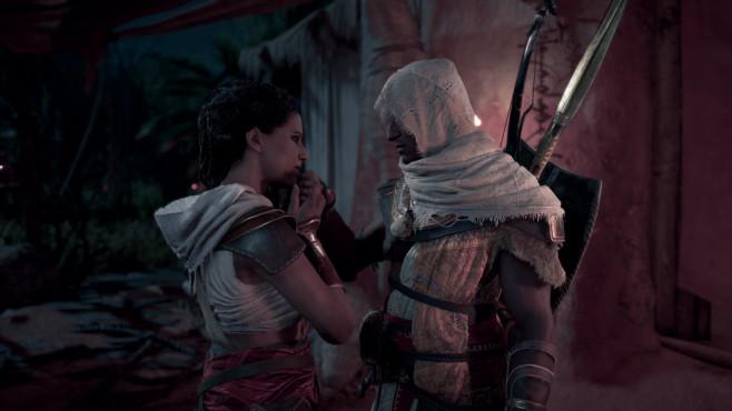 Assassin's Creed – Origins: Ein wilder Ritt! In einigen Missionen spielen Sie Bayeks Frau Aya. ©Ubisoft