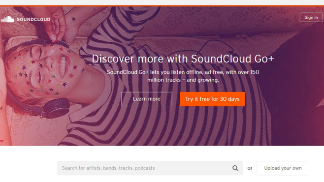 Soundcloud Go © Screenshot: soundcloud.com