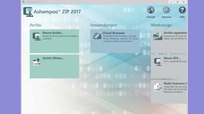 Ashampoo ZIP 2017 – Kostenlose Vollversion ©COMPUTER BILD