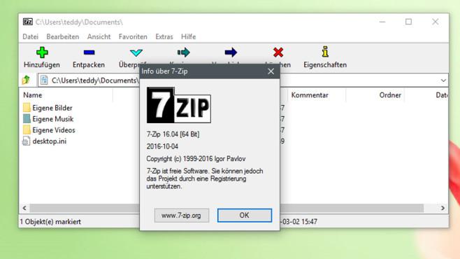 7-Zip: Dateien verkleinern und benchmarken ©COMPUTER BILD