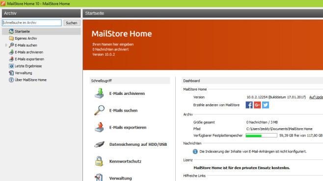 MailStore Home: E-Mails archivieren ©COMPUTER BILD