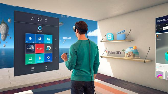 VR-Revolution? Mixed-Reality-Brille von Acer für Windows 10 im Praxis-Test Im Cliffhouse kann sich der Nutzer frei bewegen – sie ist die Ausgangsbasis für den MR-Ausflug. ©COMPUTER BILD