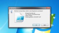 Windows 7: Löschen-Rückfrage ©COMPUTER BILD