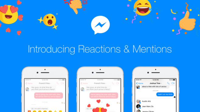 Facebook Messenger: Reaction Emojis © Facebook
