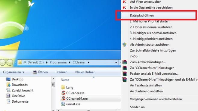 Explorer & Desktop: Dateipfad öffnen ©COMPUTER BILD
