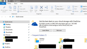 Windows 10: Werbung f�r One-Drive ©Tall_Ships_for_Life