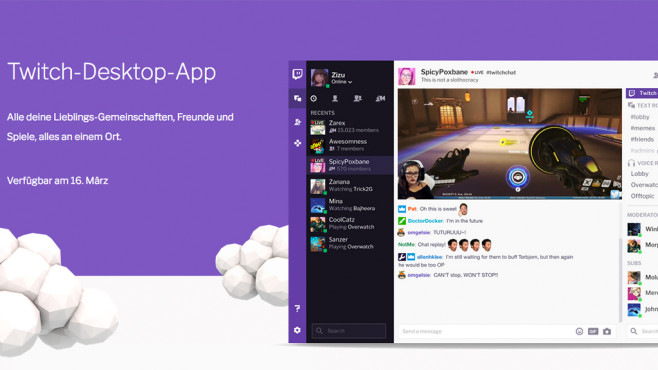 Twitch TV Desktop App © Twitch