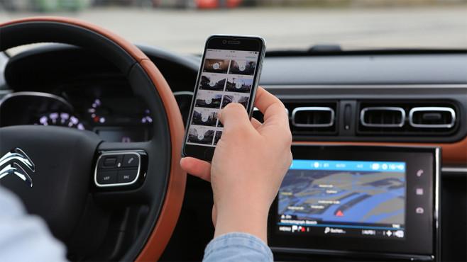 ConnectedCAM-App im Citroën C3 ©Citroën