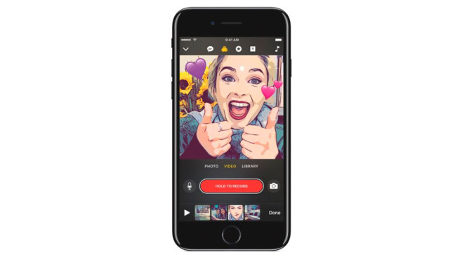 Video-App Clips von Apple © Apple
