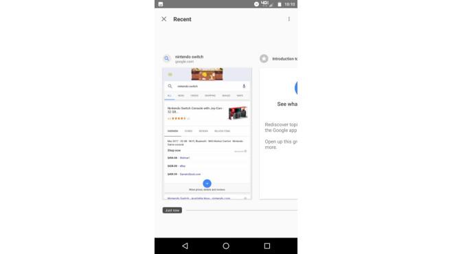 Google-App Recent ©Google/9to5Google