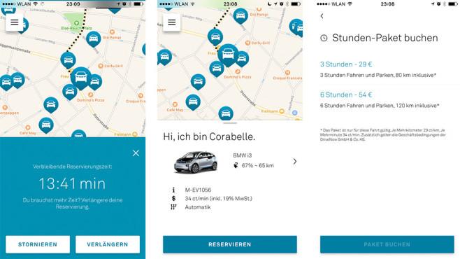 Neue DriveNow-App ©COMPUTER BILD, DriveNow