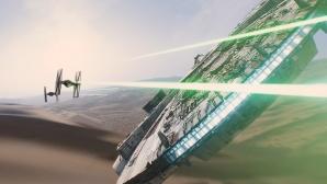 Star Wars: Episode 7 - Das Erwachen der Macht: Millennium Falke, TIE Fighter ©Lucasfilm