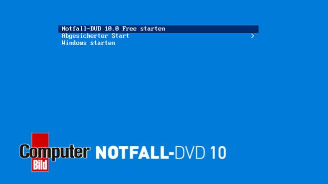 Platz 23: COMPUTER BILD-Notfall-DVD Free (Vormonat: Platz 36) ©COMPUTER BILD