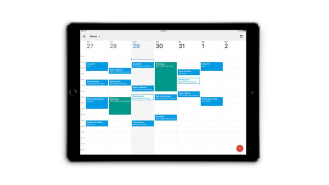 Google Kalender auf dem  iPad ©Google