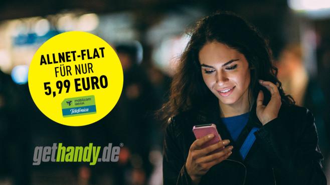 Gethandy verkauft aktuell einen Smartphone-Tarif im LTE-Netz von O2 für 5,99 Euro pro Monat ©istock.com/filadendron, Gethandy, Mobilcom-Debitel, Telefonica