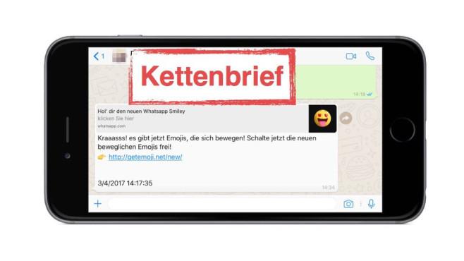 WhatsApp: Kettenbrief ©Onlinewarnungen.de