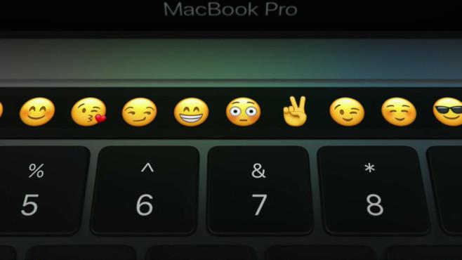 Apple Keynote Touch Bar ©COMPUTER BILD / Apple Keynote