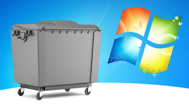 Jedes zweite Windows taugt nichts © Fotolia--Tiler84-gray garbage container isolated on white background