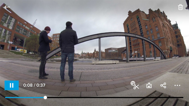 GoPro Fusion: Smartphone-App ©COMPUTER BILD
