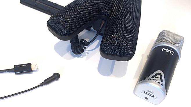 Mit diesen Tipps klingen Videos besser Für jedes Video das richtige Mikrofon: Sennheiser ClipMic zum Anstecken, Sennheiser MKE440 für Digitalkameras und Apoge MiC für den PC (von links nach rechts) ©COMPUTER BILD