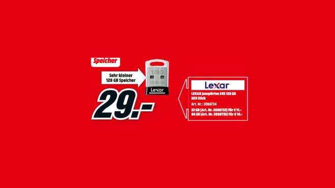 Lexar Jumpdrive S45 128GB ©Media Markt
