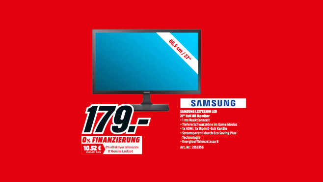 Samsung LS27E330H LED ©Media Markt