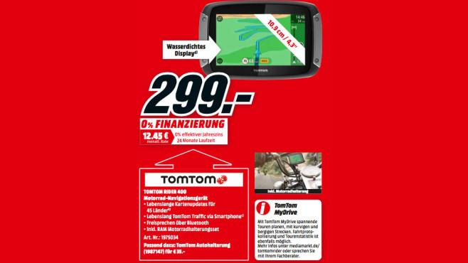Tomtom Rider 400 ©Media Markt