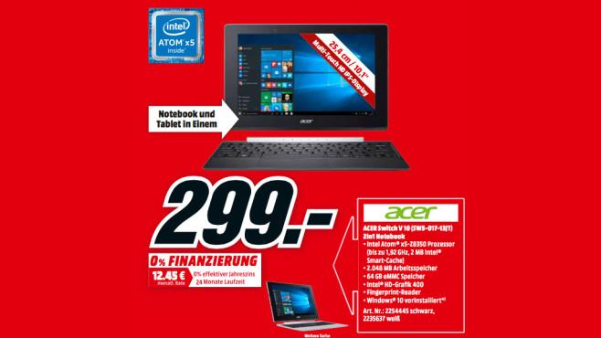 Acer Switch V10 (SWS-017-13JT) ©Media Markt