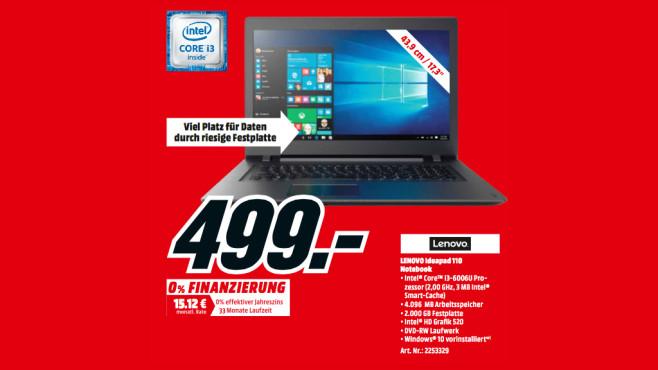 Lenovo IdeaPad 110-17 IKB (80VK0035) ©Media Markt