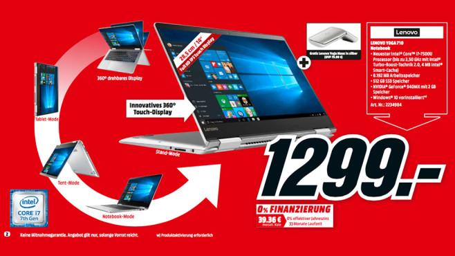 Lenovo Yoga 710-14IKB (80V4002V) ©Media Markt