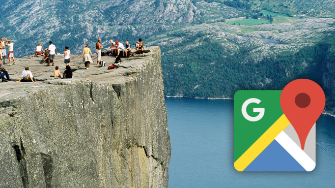 Preikestolen in Norwegen © DEA / M. SANTINI / Getty Images; Google Maps