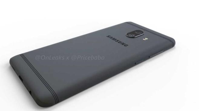 Renderbild Galaxy C10 Back ©Onleaks/pricebaba/Samsung