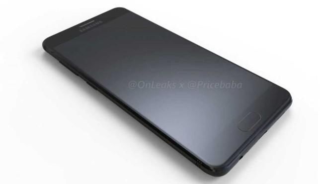 Renderbild Galaxy C10 Front ©Onleaks/pricebaba/Samsung