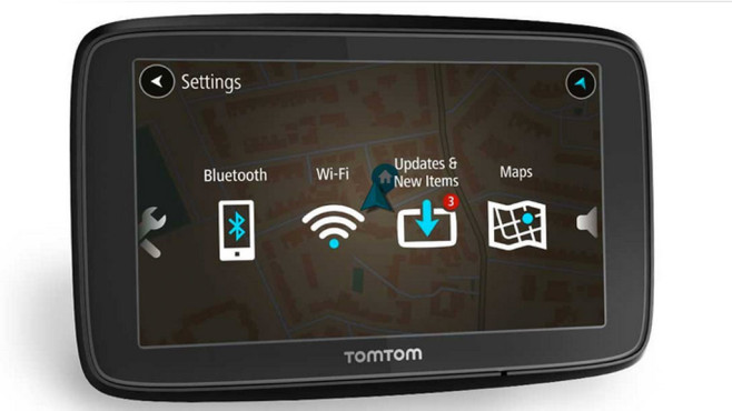 tomtom via 53 navi mit wlan anbindung computer bild. Black Bedroom Furniture Sets. Home Design Ideas