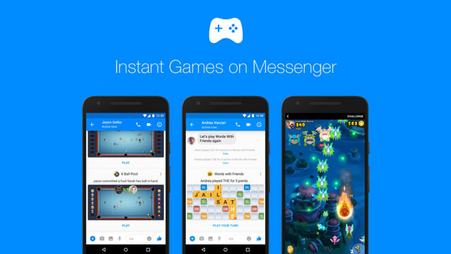 Facebook Messenger: Games ©Facebook
