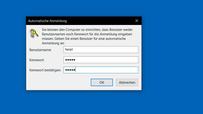 Windows-Kennwort eingeben ©COMPUTER BILD
