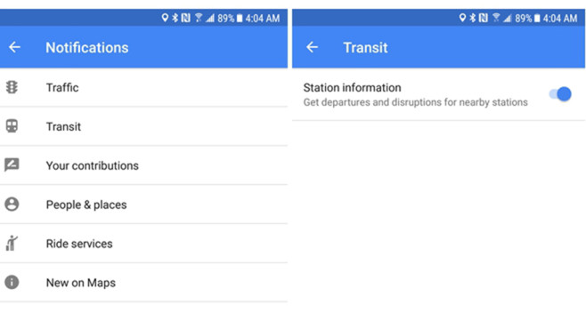 Google Maps Update ©Screenshot: androidpolice.com