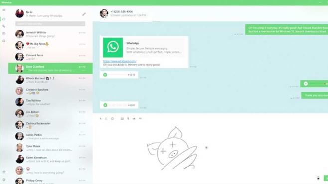 WhatsApp UWP-App für Windows 10©Windows Central/Behance