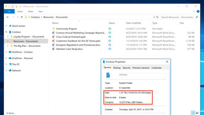 OneDrive Files On-Demand © Microsoft