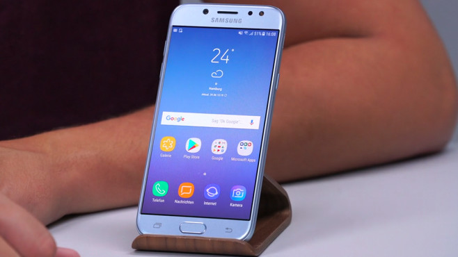 Samsung Galaxy J5 (2017): AMOLED-Display © COMPUTER BILD