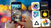 Die bsten Foto-Apps fürs Handy ©Yiu Yu Hoi/gettyimages, Cyberlink, Prisma, Hipstamatic, Enlight, MSQRD