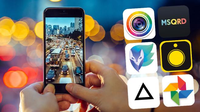 Die besten Foto-Apps fürs Handy ©Yiu Yu Hoi/gettyimages, Cyberlink, Lightricks Ltd., Prisma, Hipstamatic, Masquerade Technologies, Facebook, Google, COMPUTER BILD
