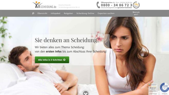 Scheidung.de Internetseite ©Scheidung.de