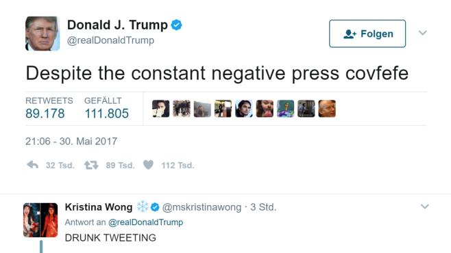#Covfefe: Verunglückter Trump-Tweet sorgt für Erheiterung im Netz