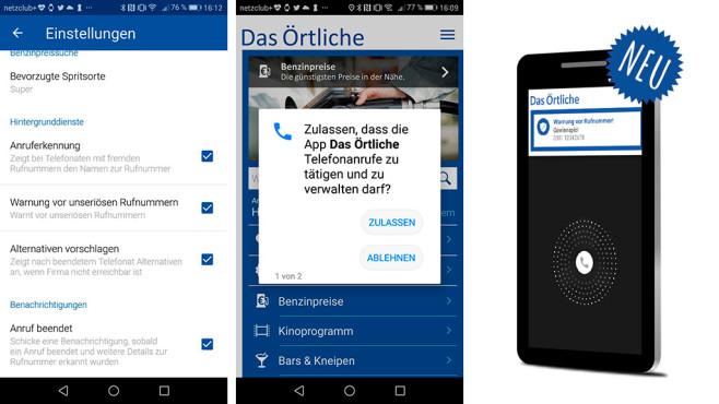 Das Örtliche: Ö-App erkennt Spam-Anrufe ©Screenshot Ö-App, Das Örtliche